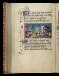 Edmund's Head Being Hidden In A Thicket, In John Lydgate's 'The Lives Of Sts. Edmund And Fremund'